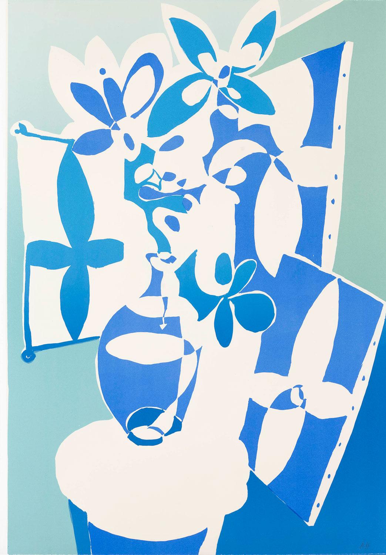 Floral Still Life - Anton Henning - Original Lithograph